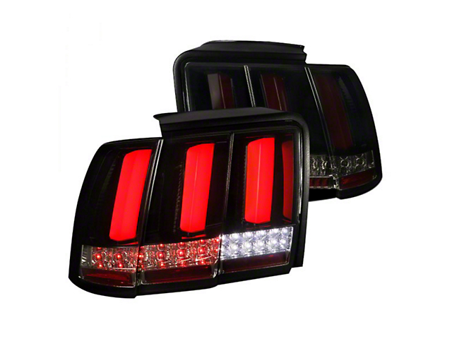 Sequential LED Tail Lights; Gloss Black (99-04 All, Excluding 99-01 Cobra)