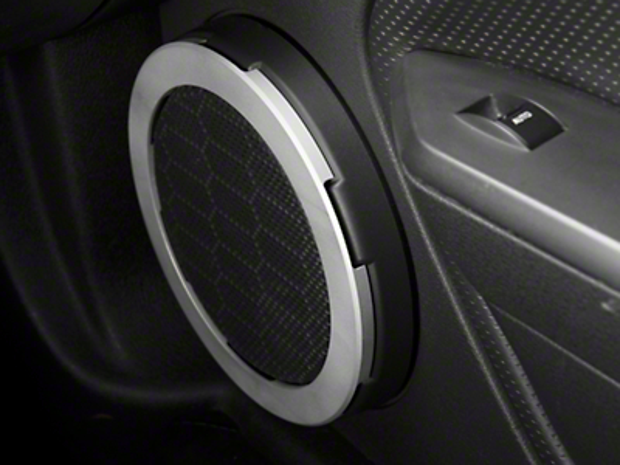 Modern Billet Satin Speaker Trim Rings (05-09 All)