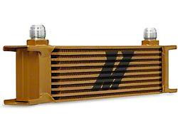 Mishimoto Universal 10-Row Oil Cooler; Gold (Universal; Some Adaptation May Be Required)