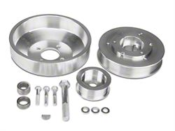 SR Performance Underdrive Pulleys; Polished (96-Mid 01 GT)