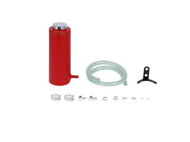 Mishimoto Engine Coolant Reservoir; Aluminum Coolant Reservoir Tank; Wrinkle Red (Universal Fitment)