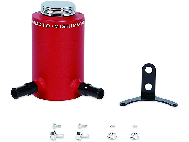 Mishimoto Aluminum Power Steering Reservoir Tank; Wrinkle Red (Universal; Some Adaptation May Be Required)
