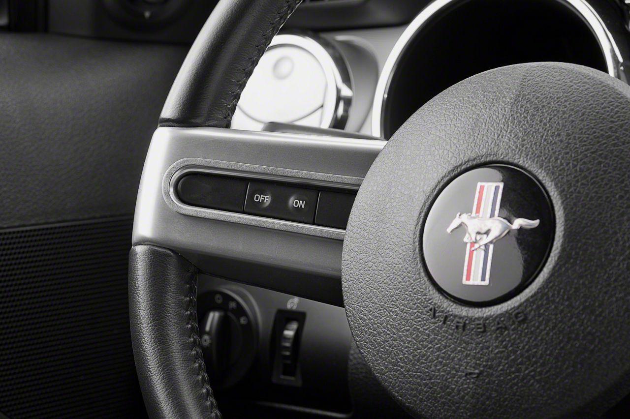 Modern Billet Satin Steering Wheel Button Bezels (05-09 All)
