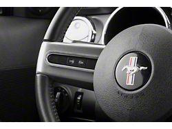 Modern Billet Steering Wheel Button Bezels; Satin (05-09 All)