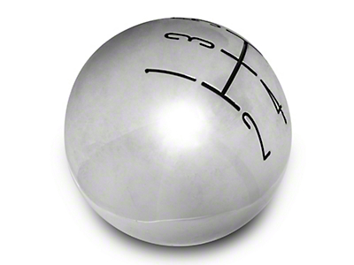 Modern Billet 2010 Style Shift Knob - Chrome (05-10 GT, V6)