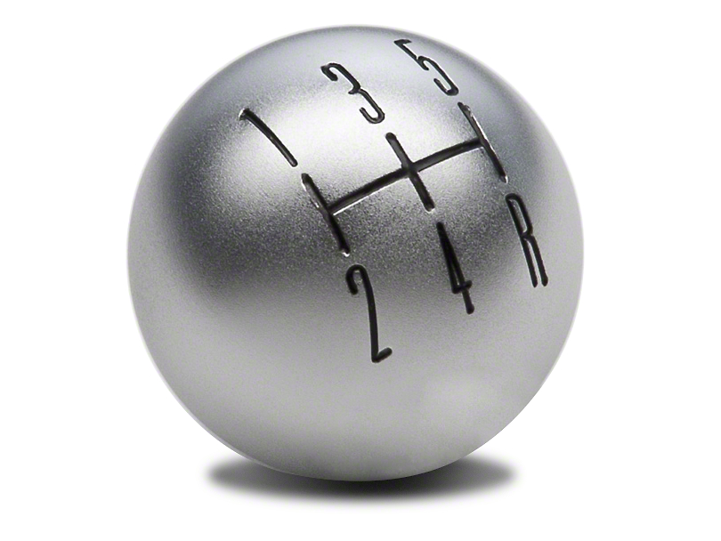 Modern Billet 2010 Style Shift Knob; Satin (05-10 GT, V6)