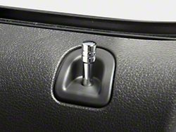 Modern Billet Door Lock Pins; Chrome (05-14 All)