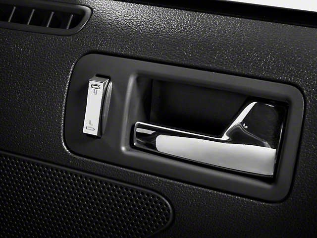 Modern Billet Lock Switch Covers; Chrome (05-14 All)