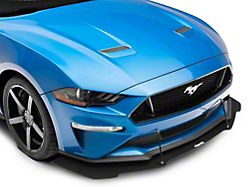 GT500 Style Front Bumper Splitter; Textured Black (18-21 GT, EcoBoost)