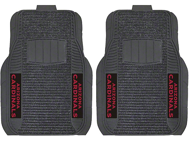 Molded Front Floor Mats with Arizona Cardinals Logo (Universal Fitment)