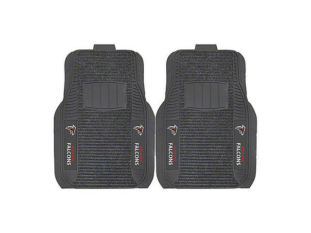 Molded Front Floor Mats with Atlanta Falcons Logo (Universal Fitment)