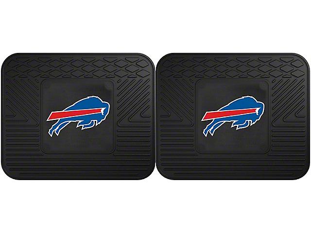 Molded Rear Floor Mats with Buffalo Bills Logo (Universal Fitment)