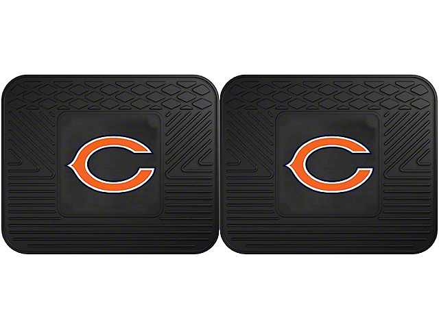 Molded Rear Floor Mats with Chicago Bears Logo (Universal Fitment)
