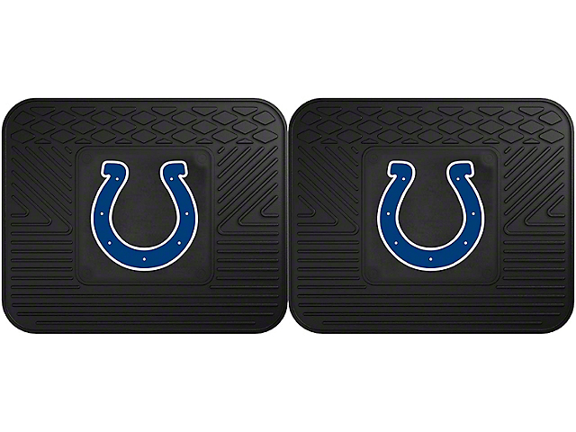 Molded Rear Floor Mats with Indianapolis Colts Logo (Universal Fitment)