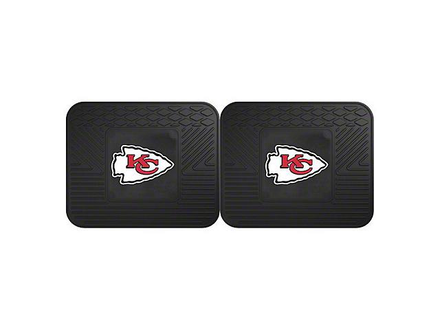 Molded Rear Floor Mats with Kansas City Chiefs Logo (Universal Fitment)