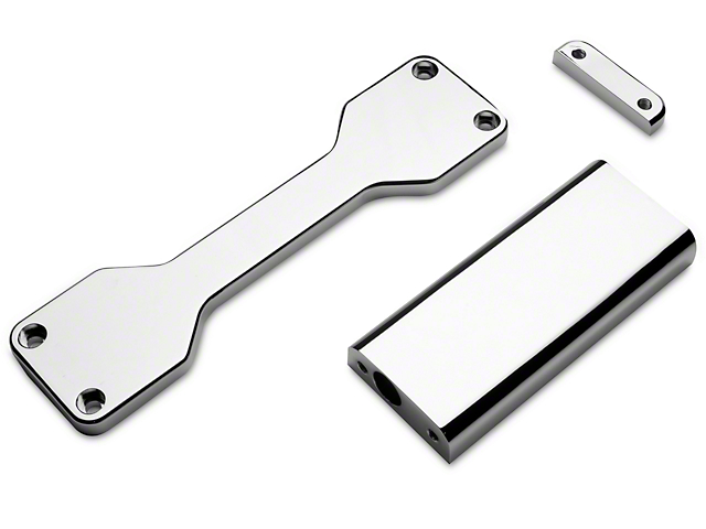 Modern Billet Battery Hold Down Bracket; Chrome (05-09 All)