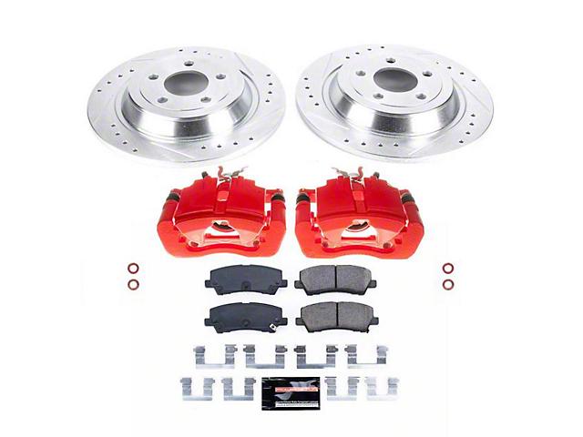 Power Stop Z23 Evolution Sport Brake Rotor, Pad and Caliper Kit; Rear (15-21 Standard EcoBoost, V6)