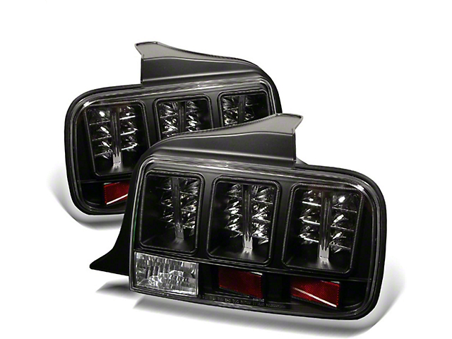 LED Tail Lights; Black (05-09 All)