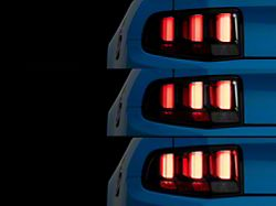 Light Bar Sequential Turn Signal LED Tail Lights; Black Housing; Smoked Lens (10-12 All)