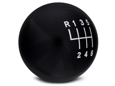American Shifter 148109 Black Retro Shift Knob with M16 x 1.5 Insert Red 6 Speed Shift Pattern - 6RDL