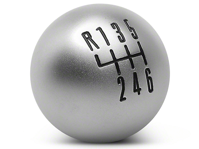 Modern Billet Retro Style 6-Speed Shift Knob; Satin (11-14 GT, V6)