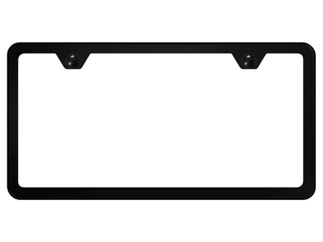 License Frame; 2 Hole Slimline Frame ; Black Powder-Coated Stainless