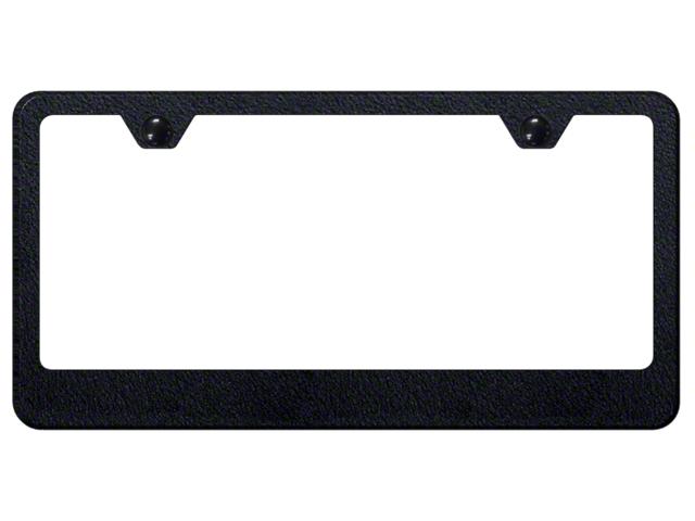 License Frame; Blank Stainless Steel Frame; Rugged Black