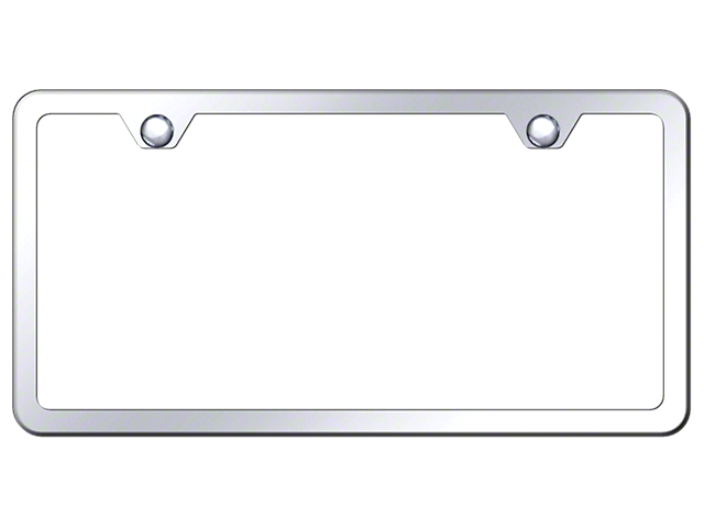 2-Hole Slimline License Plate Frame (Universal; Some Adaptation May Be Required)