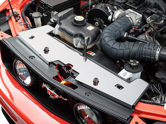 Modern Billet Stainless Steel Radiator Cover; Polished (05-09 GT, V6)