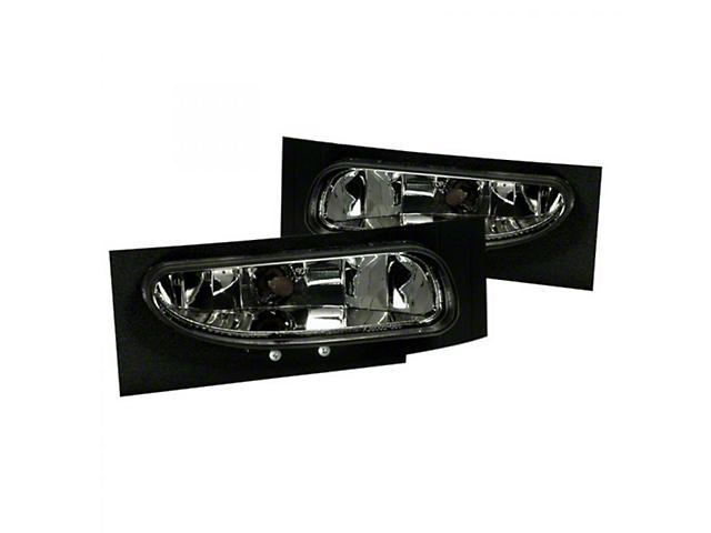 Fog Light; Factory Style; Smoke Lens (94-98 V6 Mustang)