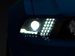 LUXX-Series LED Projector Headlights; Alpha Black Housing; Clear Lens (10-12 w/ Factory Halogen Headlights)