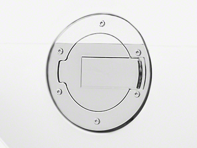 MMD Billet Aluminum Fuel Door; Chrome (05-09 All)