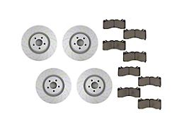 Pedders SportsRyder Brake Rotor and Pad Kit; Front and Rear (15-21 Standard GT, EcoBoost w/ Performance Pack)