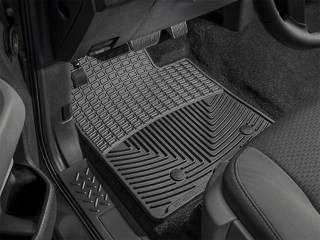 Weathertech Floor Mat Set; All Weather; Black Front (10-12 Mustang)