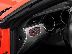 Alterum Headlight Switch Trim; Red Carbon (15-21 All)