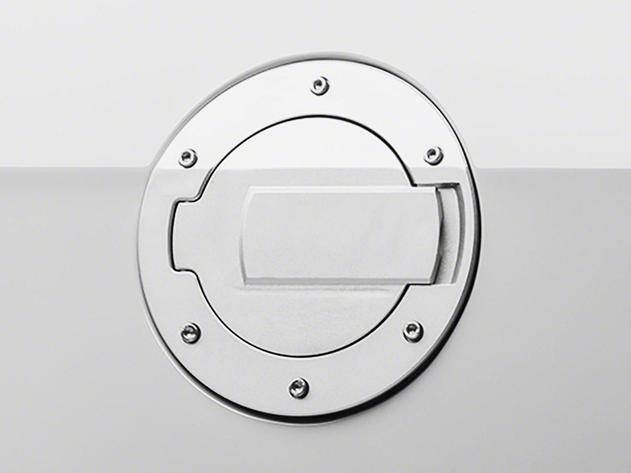 MMD Chrome Billet Aluminum Fuel Door (10-14 All)