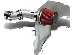 Air Intake Kit; Head Shield; Aluminum Piping; Silver (11-14 V6)