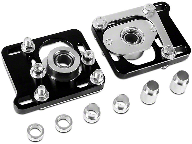 Camber Caster Plates; Black (94-04 All)