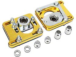 Camber Cast Plate Kit; Front; Gold (94-04 Mustang)