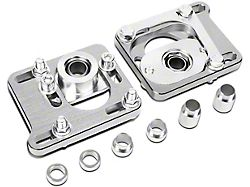 Camber Caster Plates; Silver (94-04 All)