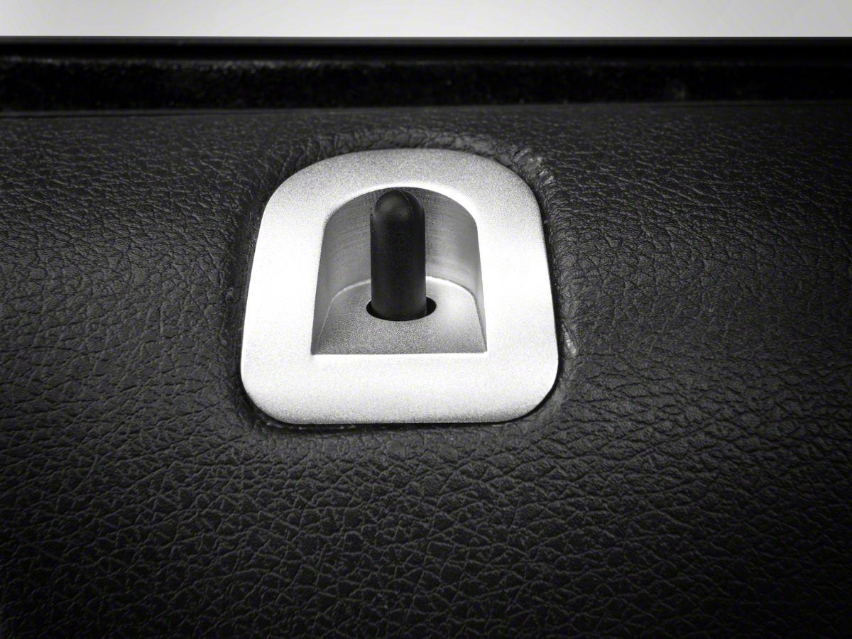 Modern Billet Mustang Satin Door Lock Bezel 41313 05 14 All
