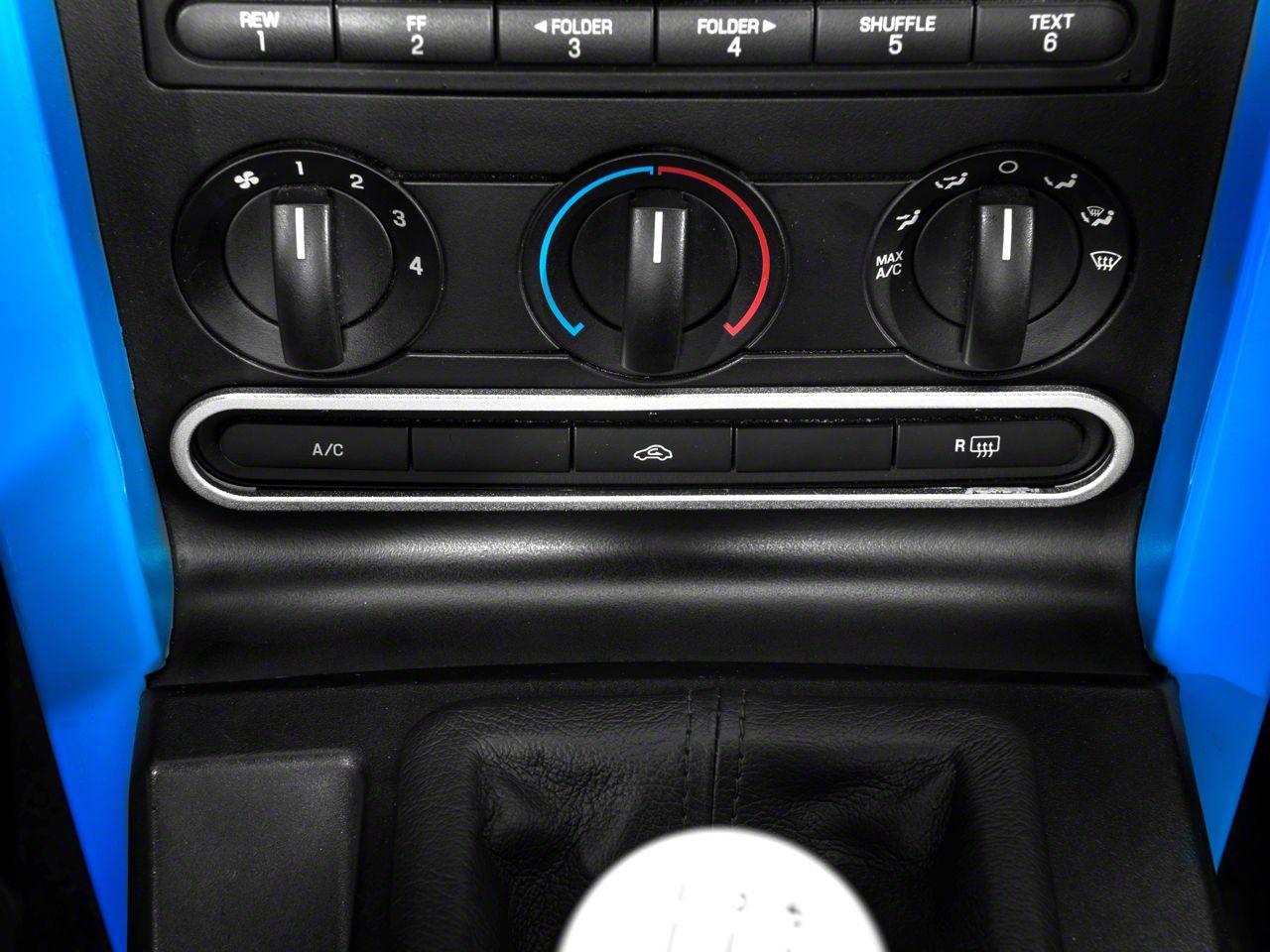 Modern Billet Satin Dash Button Bezel (05-09 All)