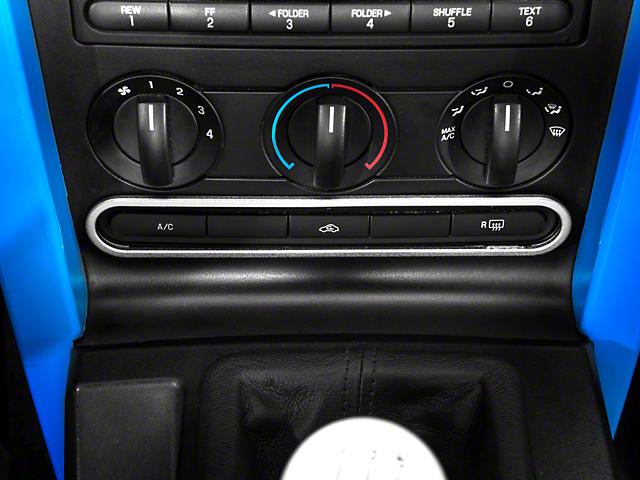 Modern Billet Dash Button Bezel; Satin (05-09 All)