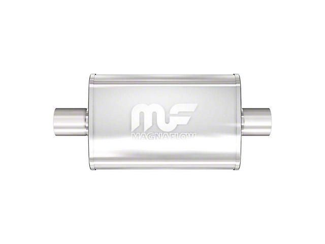 Magnaflow Performance Center/Center Oval Satin Muffler; 3-Inch (Universal Fitment)