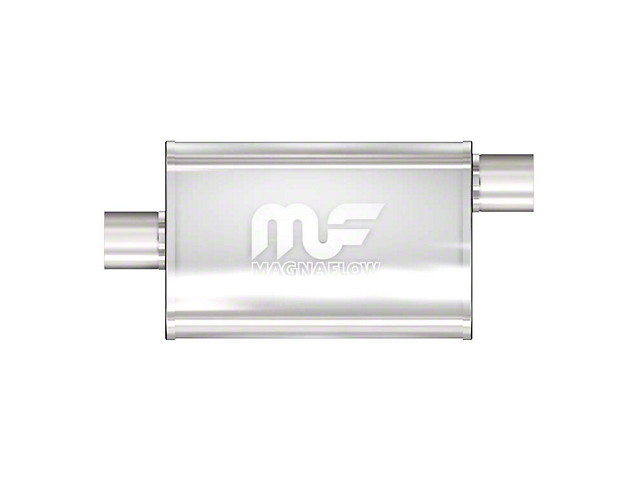 Magnaflow Performance Center/Offset Straight Satin Muffler; 2.50-Inch (Universal; Some Adaptation May Be Required)