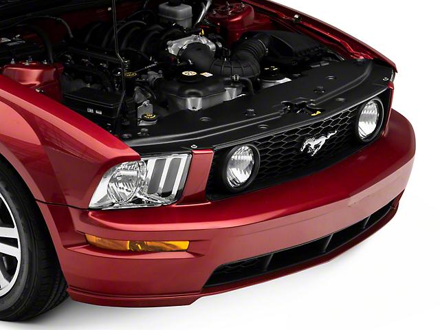 JLT Full Length Radiator Cover; Textured Black (05-09 GT, V6)
