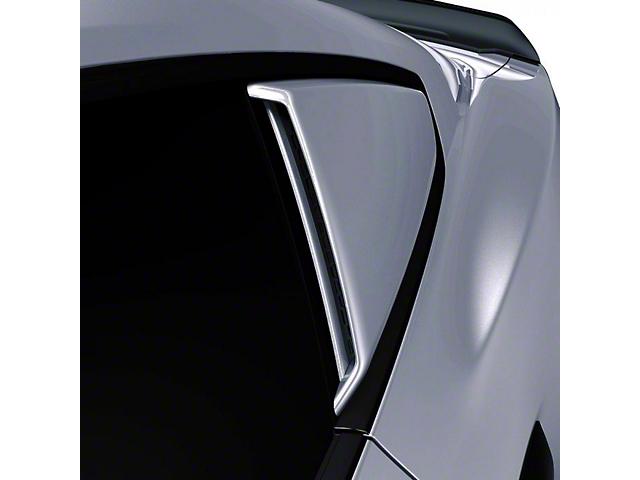 Air Design Quarter Window Scoops; Satin Black (15-21 Fastback)