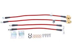 Power Stop Stainless Steel Brake Hose Kit; Front and Rear (15-21 GT, EcoBoost)