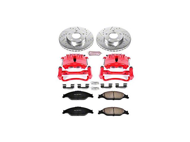 Power Stop Z23 Evolution Brake Rotor, Pad and Caliper Kit; Front (99-02 GT, V6)