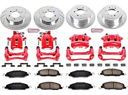 Power Stop Z23 Evolution Brake Rotor, Pad and Caliper Kit; Front and Rear (05-10 GT)